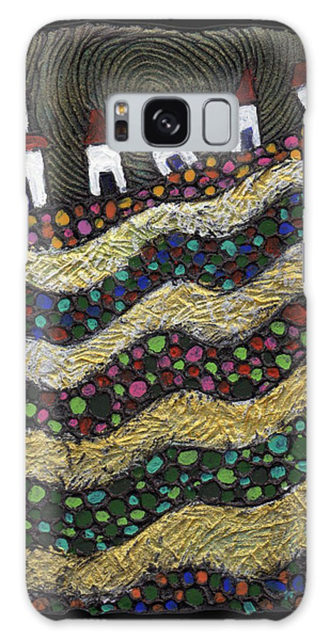Folk Art Galaxy S8 Case featuring the painting Many Paths Lead To The Top by Wayne Potrafka
