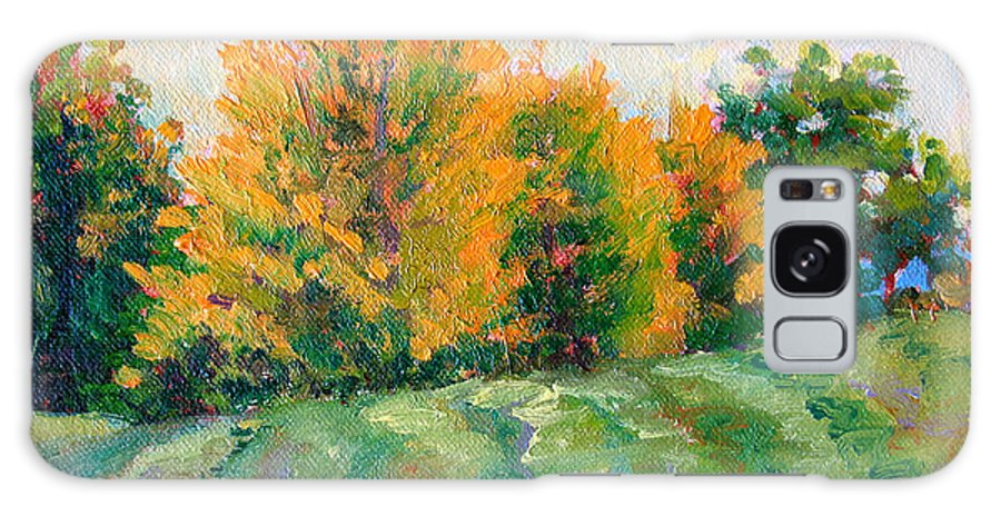 Impressionism Galaxy S8 Case featuring the painting Maple Grove by Keith Burgess