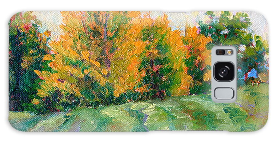 Impressionism Galaxy Case featuring the painting Maple Grove by Keith Burgess