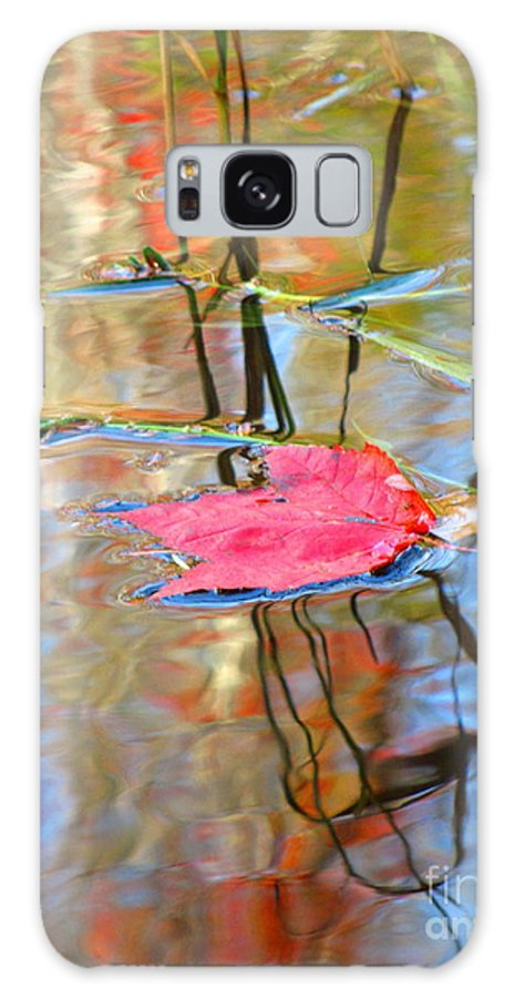Abstract Galaxy S8 Case featuring the photograph I Am Here In The Changing Waters by Sybil Staples