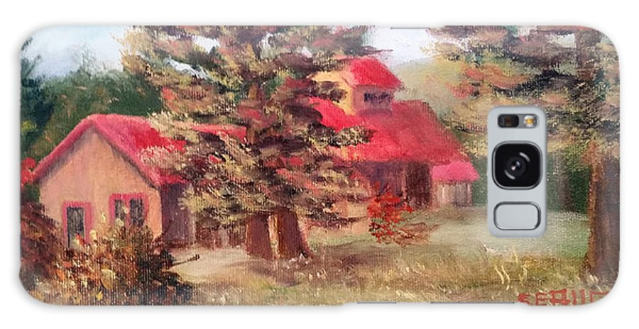 Sugar House Galaxy Case featuring the painting Maple Syrup for Sale by Sharon E Allen