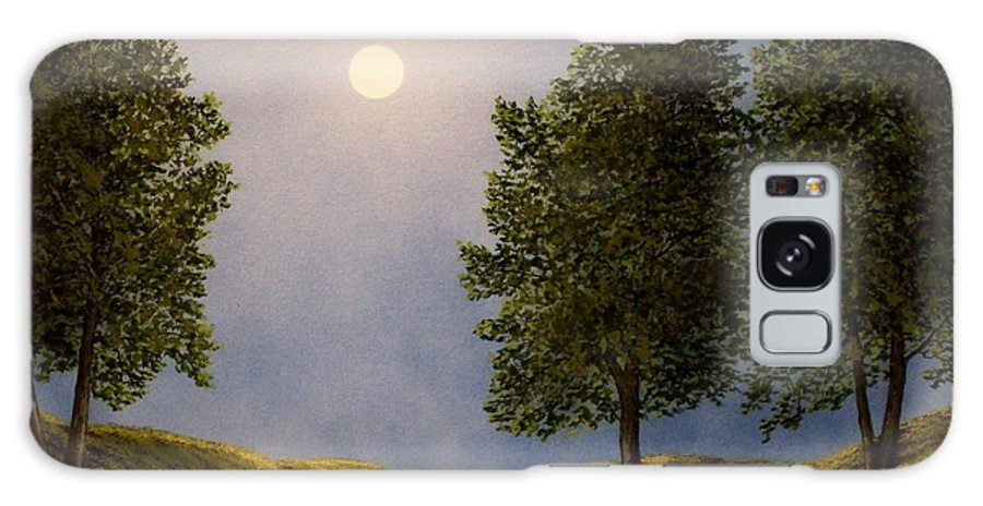 Mountains Galaxy S8 Case featuring the painting Maples In Moonlight by Frank Wilson