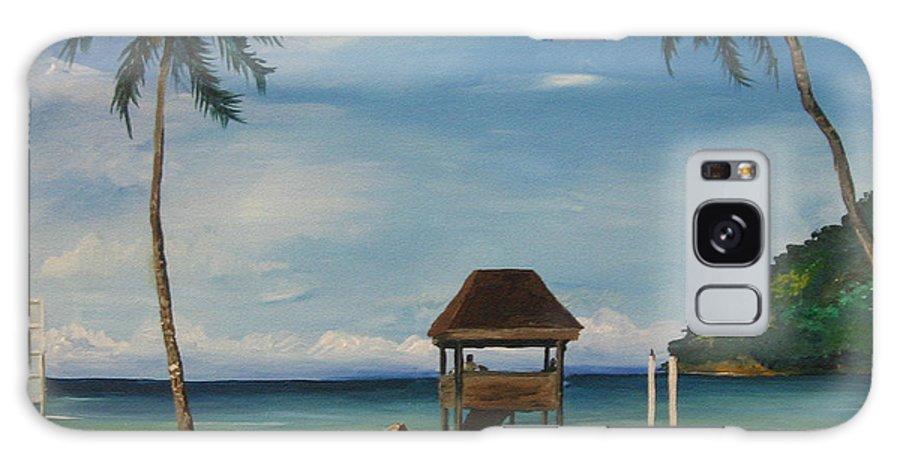 Maracas Galaxy S8 Case featuring the painting Maracas Bay 2 by Samantha Rochard