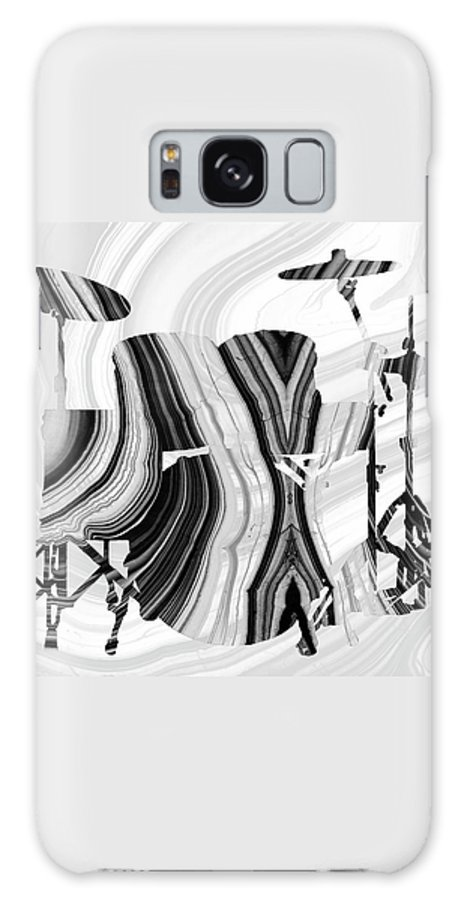 Drum Galaxy Case featuring the painting Marbled Music Art - Drums - Sharon Cummings by Sharon Cummings