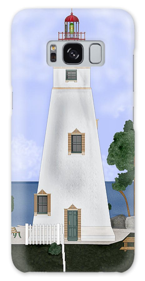 Marblehead Ohio Lighthouse Galaxy S8 Case featuring the painting Marblehead Ohio by Anne Norskog