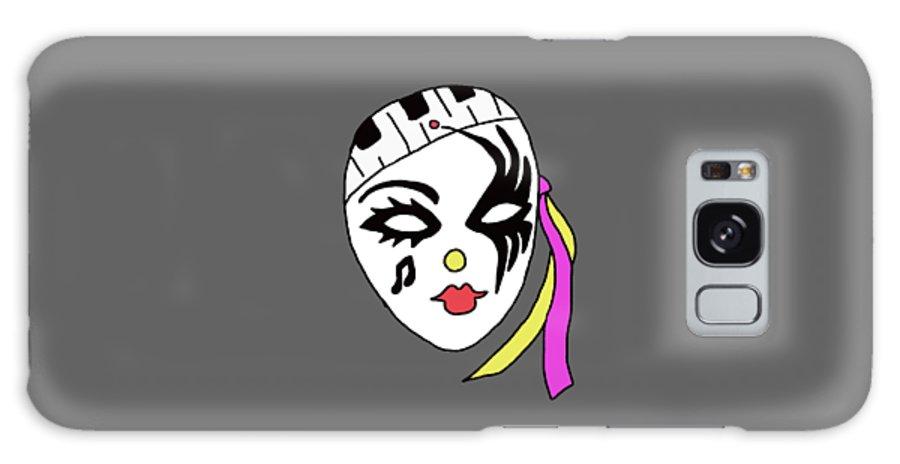 Mardi Gras Mask Galaxy S8 Case featuring the digital art Mardi Gras Mask by Priscilla Wolfe