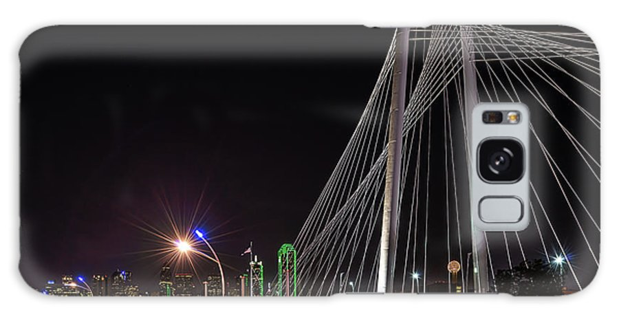 Dallas Skyline Galaxy S8 Case featuring the photograph Margaret Hunt Hill Bridge Dallas by Tod and Cynthia Grubbs