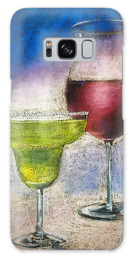 Margarita Galaxy S8 Case featuring the pastel Margarita And A Glass Of Wine by Arline Wagner