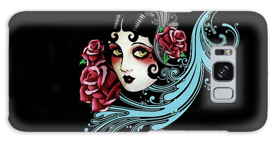 Vintage Floral 1920s Roses Galaxy S8 Case featuring the digital art Maria by Laurence Adamson