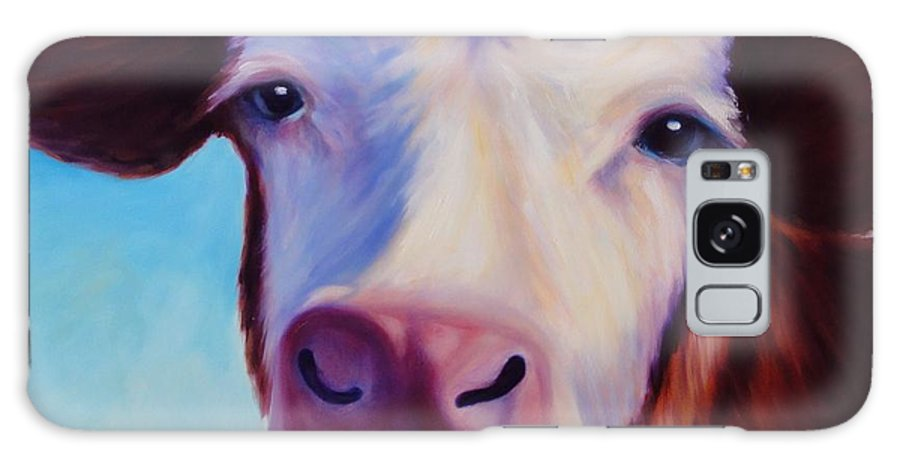 Cow Galaxy S8 Case featuring the painting Marie by Shannon Grissom