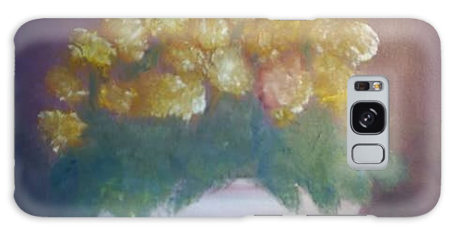 Marigolds Galaxy Case featuring the painting Marigolds by Sheila Mashaw