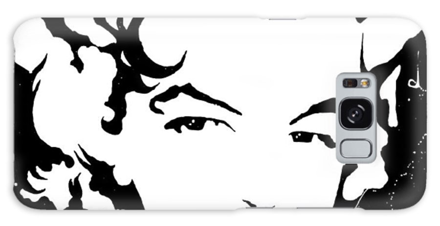 Portrait Galaxy Case featuring the painting Marilyn Monroe by Curtiss Shaffer