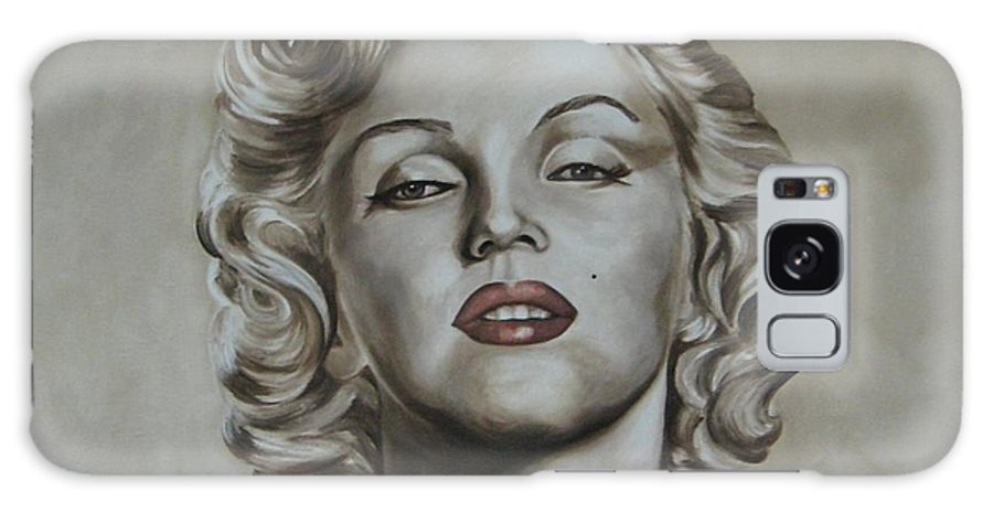 Oil Galaxy Case featuring the painting Marilyn Monroe by Jindra Noewi
