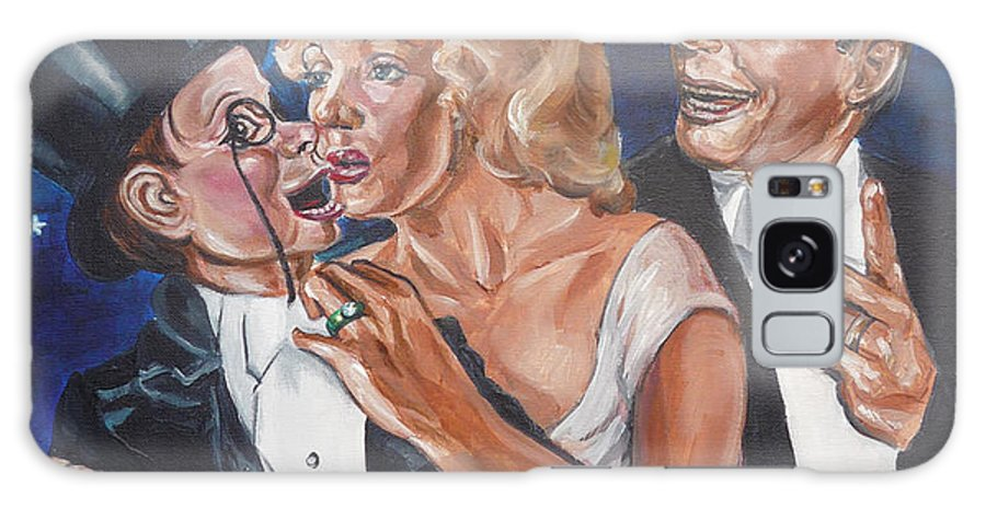 Old Time Radio Galaxy S8 Case featuring the painting Marilyn Monroe Marries Charlie Mccarthy by Bryan Bustard
