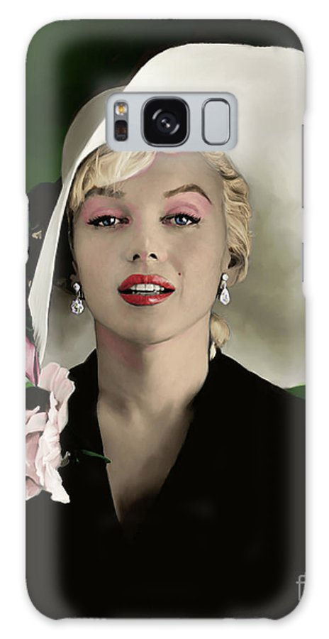 Marilyn Galaxy Case featuring the painting Marilyn Monroe by Paul Tag