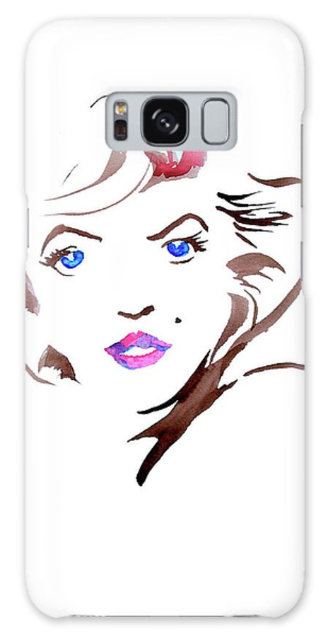 Marilyn Galaxy S8 Case featuring the painting Marilyn by Seth Weaver