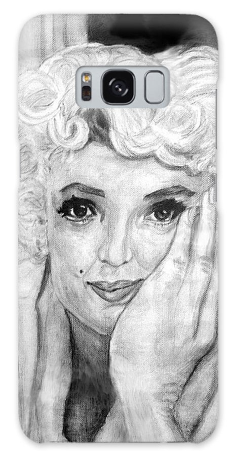 People Galaxy S8 Case featuring the painting Marilyn by Stephen Mead