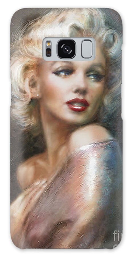 Theo Danella Galaxy Case featuring the painting Marilyn WW soft by Theo Danella