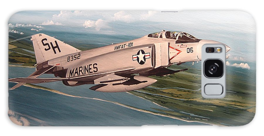Aviation Galaxy Case featuring the painting Marine Phantom by Marc Stewart