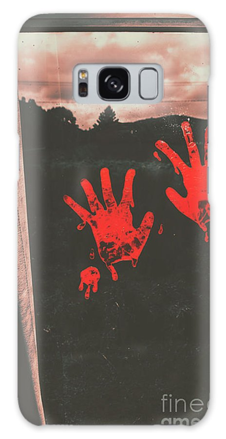 Blood Galaxy S8 Case featuring the photograph Mark Of Murder by Jorgo Photography - Wall Art Gallery