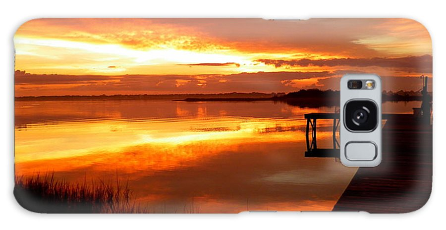 Sunrises Galaxy S8 Case featuring the photograph Marmalade Skies by Karen Wiles
