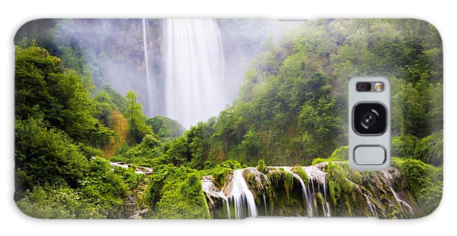 Italy Galaxy S8 Case featuring the photograph Marmore Waterfalls Italy by Marilyn Hunt