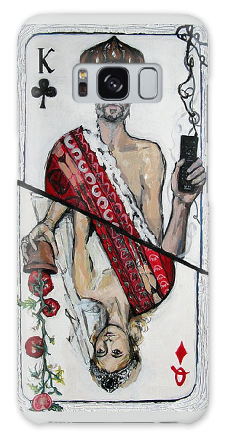 Marriage Galaxy Case featuring the painting Marriage by Mima Stajkovic