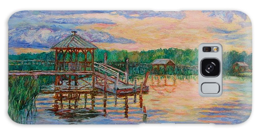 Landscape Galaxy Case featuring the painting Marsh View At Pawleys Island by Kendall Kessler
