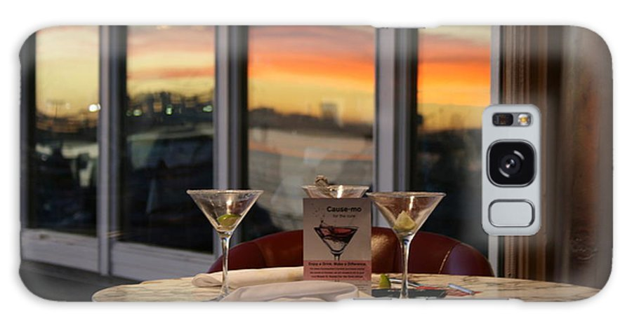 Martini Galaxy Case featuring the photograph Martini At Sunset by Joshua Sunday