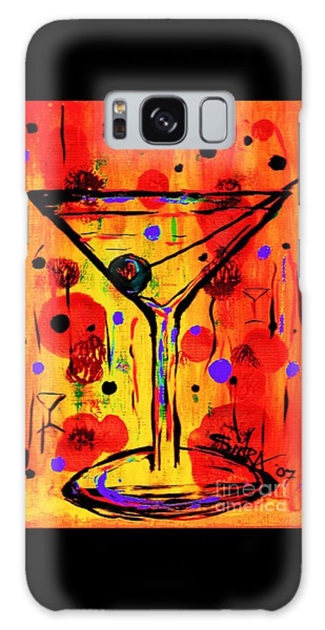 Martini Galaxy S8 Case featuring the painting Martini Twentyfive Of Sidzart Pop Art Collection by Sidra Myers