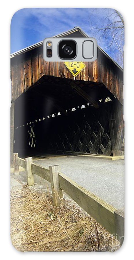 Bridge Galaxy S8 Case featuring the photograph Martinsville Covered Bridge- Hartland Vermont Usa by Erin Paul Donovan