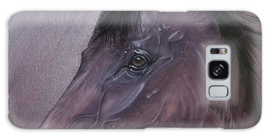 Horse Marwari Equine Purple Galaxy S8 Case featuring the painting Marwari Purple by Pauline Sharp