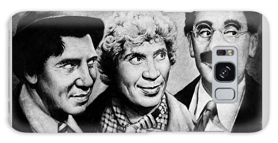 Marx Bros Galaxy S8 Case featuring the drawing Marx Bros by Andrew Read