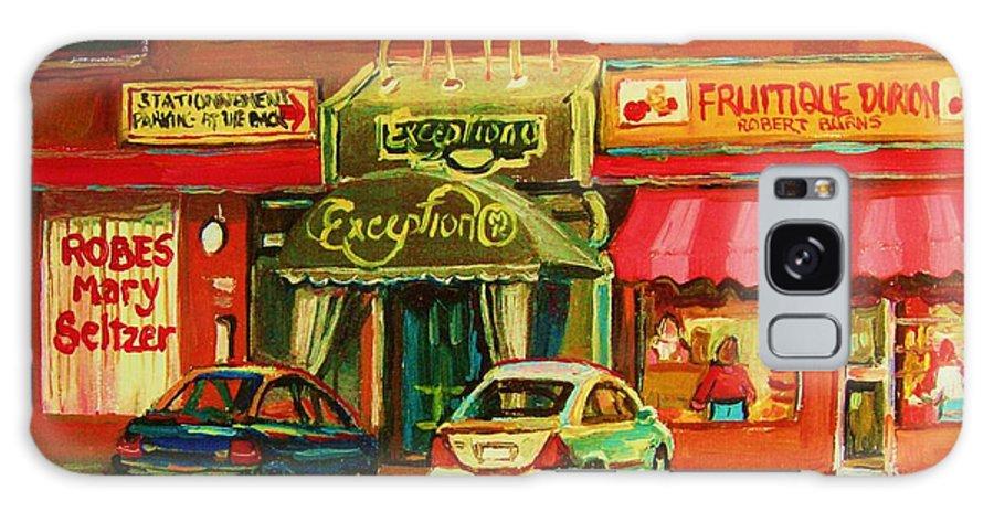 Mary Seltzer Dress Shop Galaxy S8 Case featuring the painting Mary Seltzer Dress Shop by Carole Spandau
