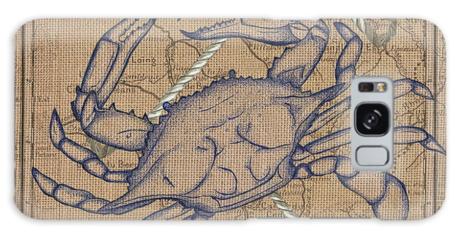 Crab Galaxy Case featuring the painting Maryland Blue Crab by Debbie DeWitt