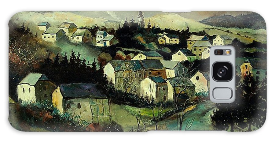 Winter Galaxy S8 Case featuring the painting Masbourg by Pol Ledent