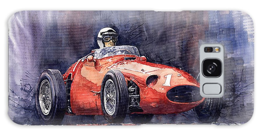 Avto Galaxy S8 Case featuring the painting Maserati 250f by Yuriy Shevchuk