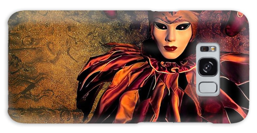 Mask Galaxy Case featuring the photograph Masquerade by Jacky Gerritsen