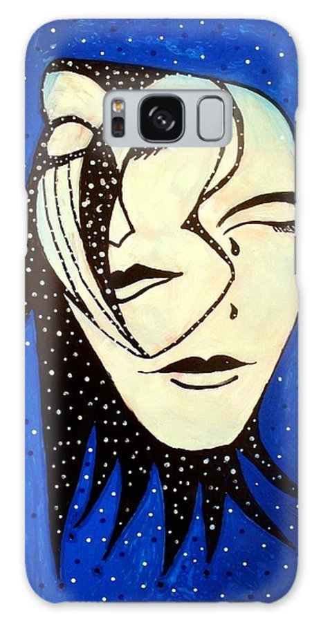 Masks Galaxy S8 Case featuring the painting Masquerade by Robin Monroe