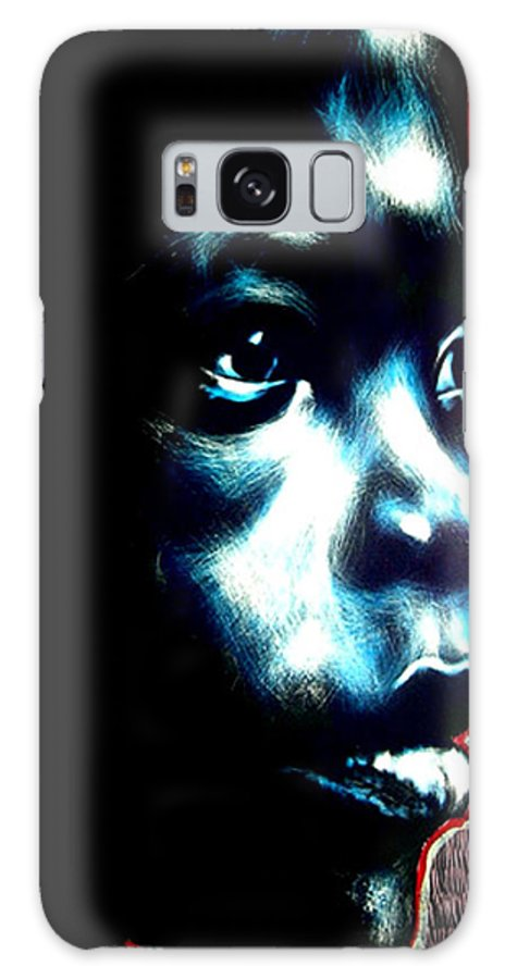 Galaxy S8 Case featuring the mixed media Master Blue by Chester Elmore