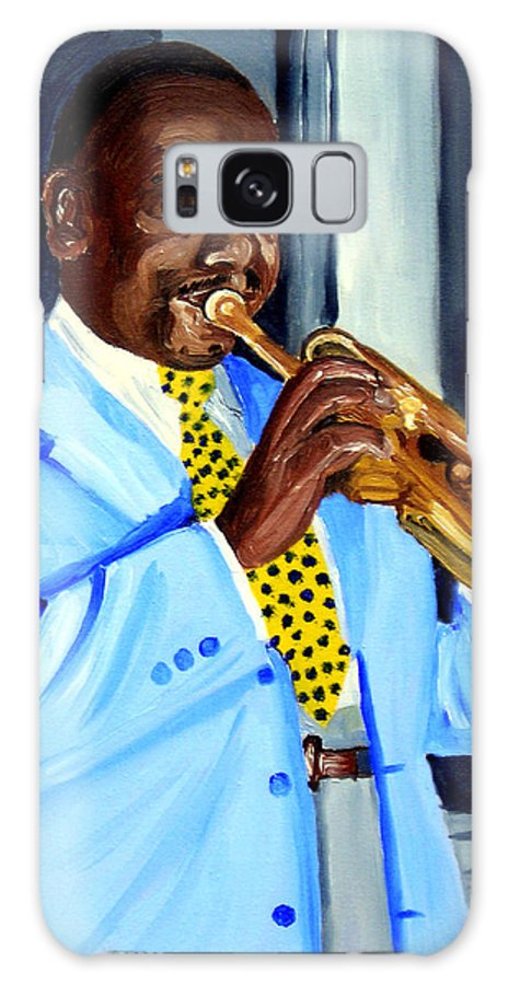 Street Musician Galaxy S8 Case featuring the painting Master Of Jazz by Michael Lee