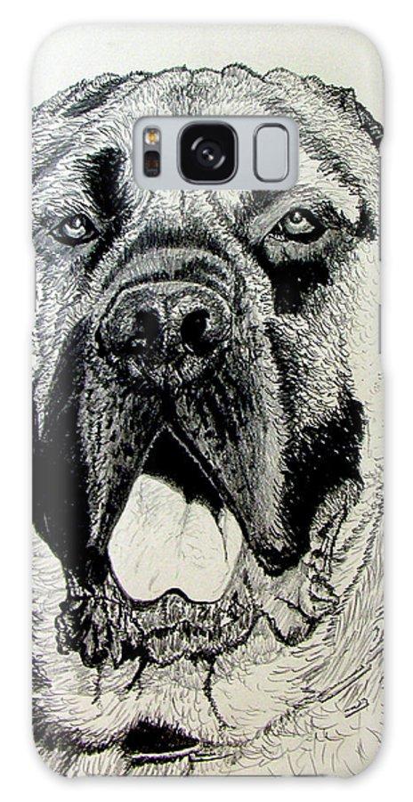 Mastiff Galaxy Case featuring the drawing Mastiff by Stan Hamilton