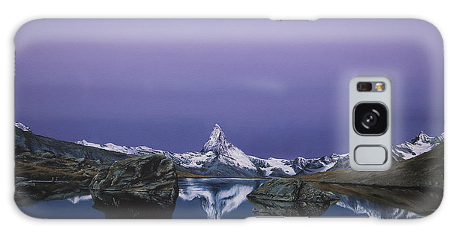 Mountain Galaxy S8 Case featuring the painting Matterhorn by Mario Pichler