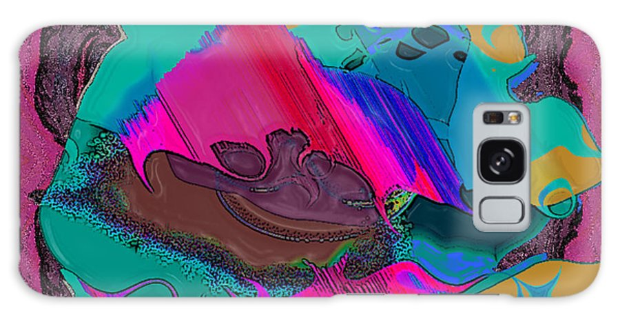 Ebsq Galaxy S8 Case featuring the digital art Mauve Abstract by Dee Flouton