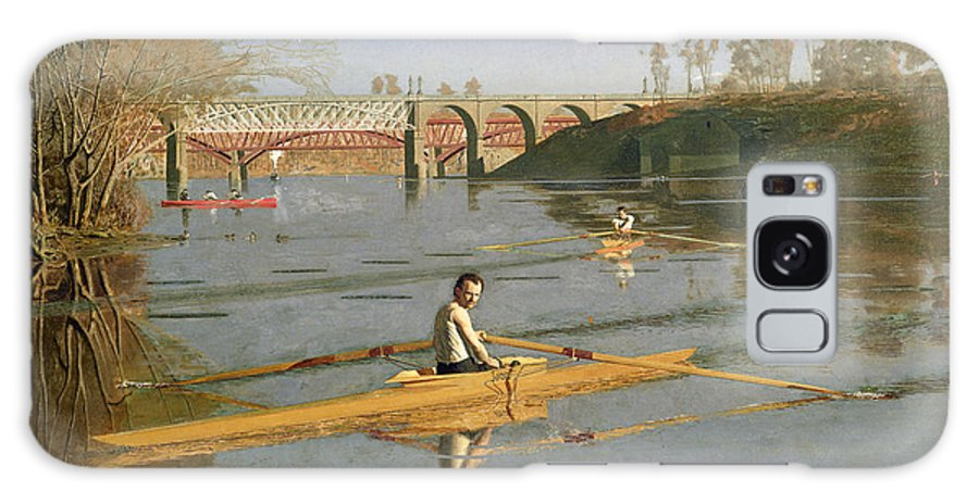 Max Galaxy S8 Case featuring the painting Max Schmitt In A Single Scull by Thomas Cowperthwait Eakins