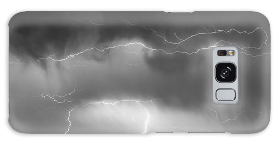 bo Insogna Galaxy S8 Case featuring the photograph May Showers - Lightning Thunderstorm Bw 5-10-2011 by James BO Insogna