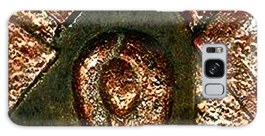 Ceramic Galaxy Case featuring the relief Maze Of Memories by Madalena Lobao-Tello