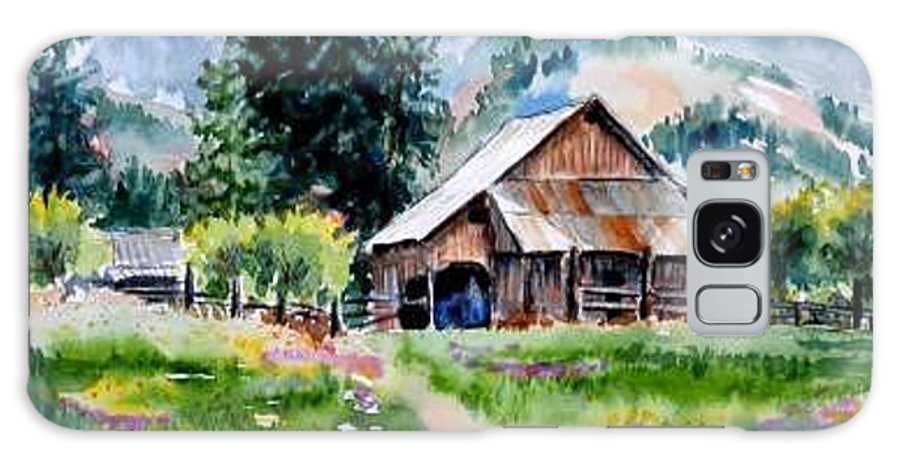 Barn Galaxy S8 Case featuring the painting McGhee Farm by Lynee Sapere