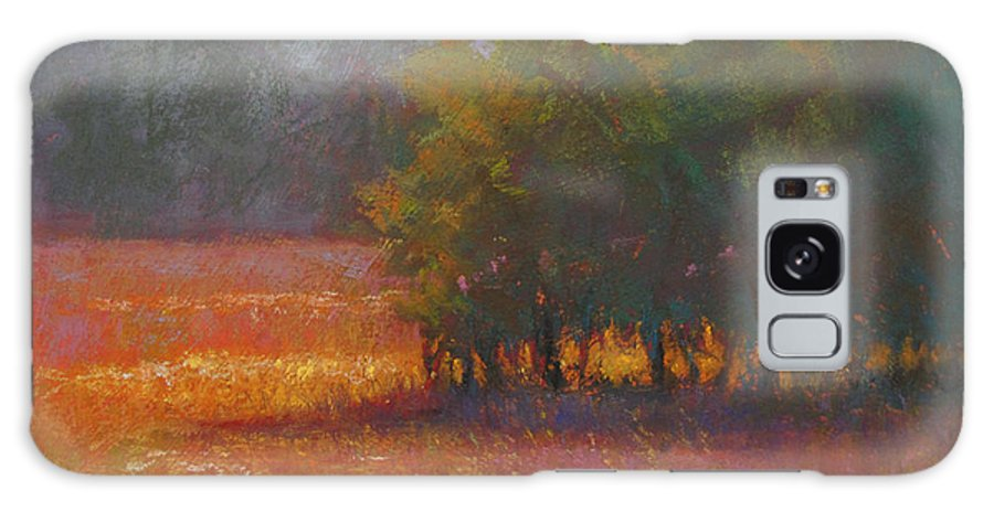Landscapes Galaxy S8 Case featuring the painting Meadow Glow by Susan Williamson