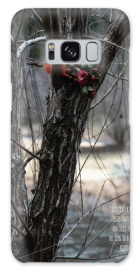 Bouquet In The Tree Galaxy Case featuring the photograph Meadowlark Tribute Tree by Tom Stovall Sr